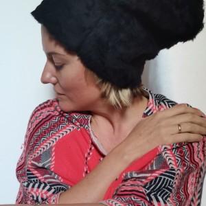 czapka czarna futrzana