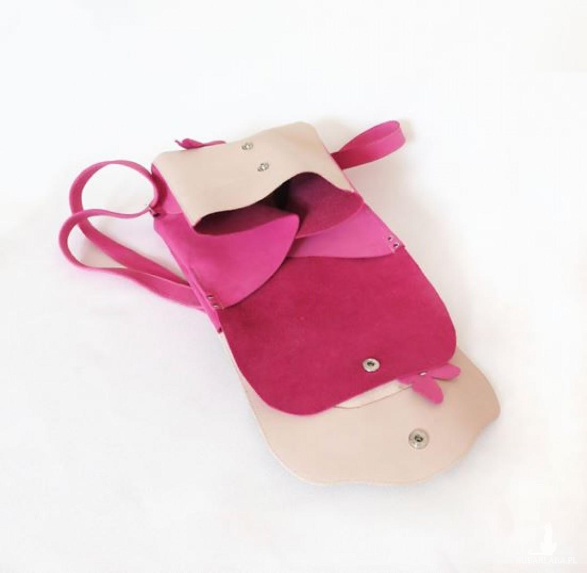 Plecak skórzany dwukomorowy