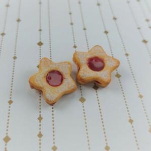 kolczyki wtykane ciasteczka gwiazdki