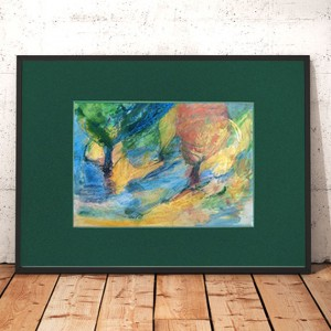 mały pejzaż do salonu, mały obraz z pejzażem, krajobraz rysunek, obraz z drzewami