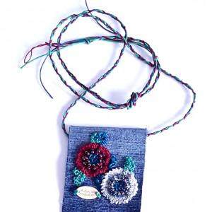 4571 długi naszyjnik haft, szydełkowy