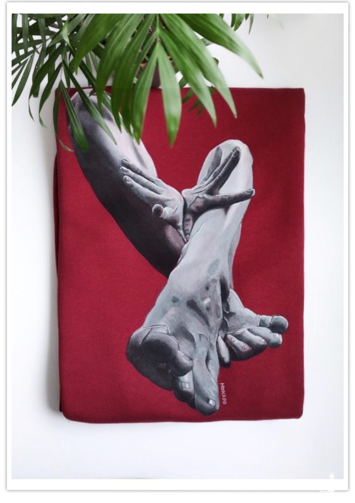 Ręcznie malowana bluza akt