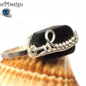 Turmalinem, Srebrny pierścionek z turmalinem, ręcznie wykonany, prezent dla niej prezent dla mamy prezent urodzinowy biżuteria autorska