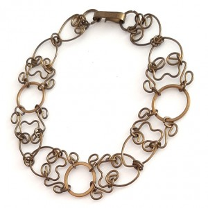106 mosiężna, stara bransoletka; efektowna, na prezent dla niej lub dla niego