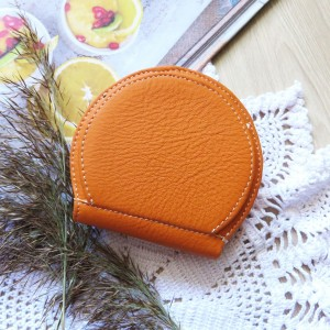 Portmonetka skórzana Pumpkin pomarańczowa