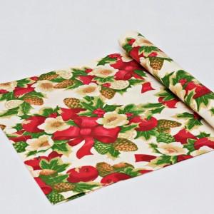 Bieżnik świąteczny, serweta na świąteczny stół, bieżnik bawełniany na święta stroik