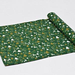 Bieżnik świąteczny, serweta na świąteczny stół, bieżnik bawełniany na święta choinki złote