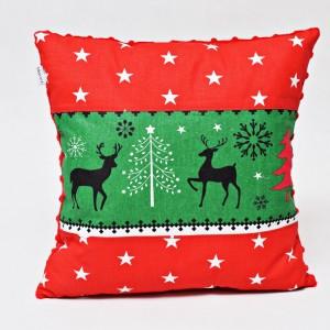 Poduszka świąteczna, ozdoba na święta poduszka na święta z wypełnieniem renifery