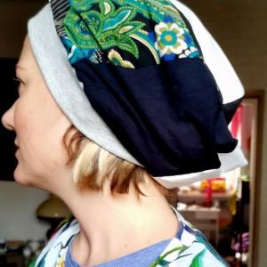 czapka damska patchworkowa codzienna