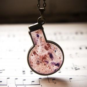 Naszyjnik  - różowa buteleczka z magicznym eliksirem