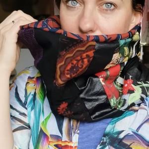 komin patchworkowy boho handmade kolorowy przejsciówka  frida kahlo handmade