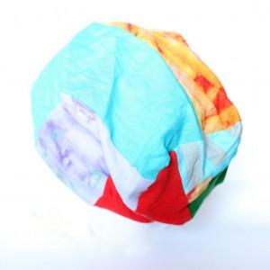 czapka patchworkowa damska farbowana