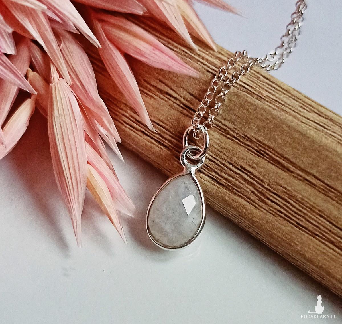 Naszyjnik Kamień Księżycowy Srebro 925
