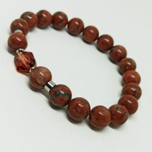 Jaspis czerwony - bransoletek z kamieni naturalnych