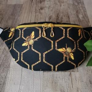 Nerka saszetka wodoodporna handmade torebka na pas torebka na ramię pszczoły
