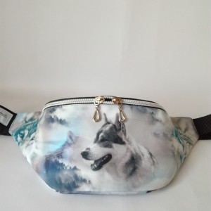 Nerka saszetka biodrowa wodoodporna handmade torebka na pas torebka na ramię wilki