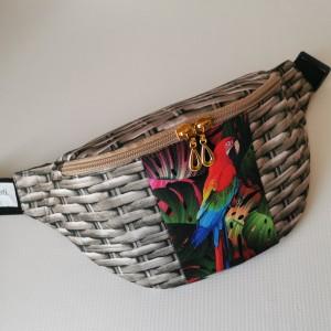 Nerka saszetka biodrowa wodoodporna handmade torebka na pas torebka na ramię papuga