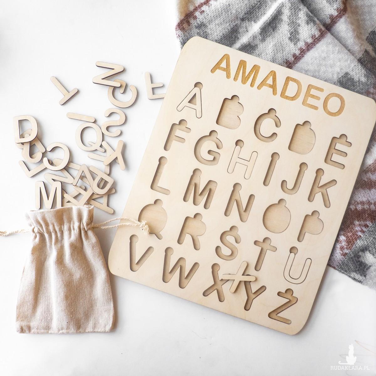 Układanka alfabet - drukowane litery