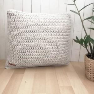 Poduszka dekoracyjna, poduszka boho, kwadratowa.