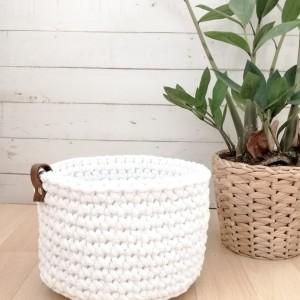 Koszyk 10x9cm,sznurek bawełniany, 5 kolorów.