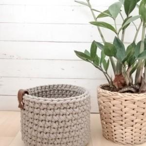 Koszyk 12x11cm, sznurek bawełniany,5 kolorów.