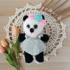 Szydełkowy miś Panda