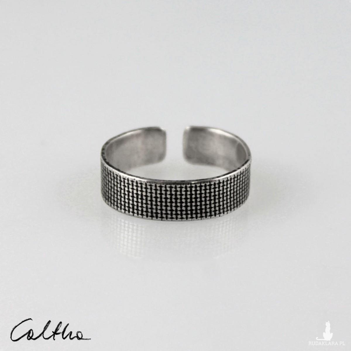 Płótno - srebrna obrączka 191020-09