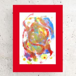 księżyc rysunek,  obraz z księżycem, księżyc dekoracja na ścianę, akwarela, bajkowy obrazek