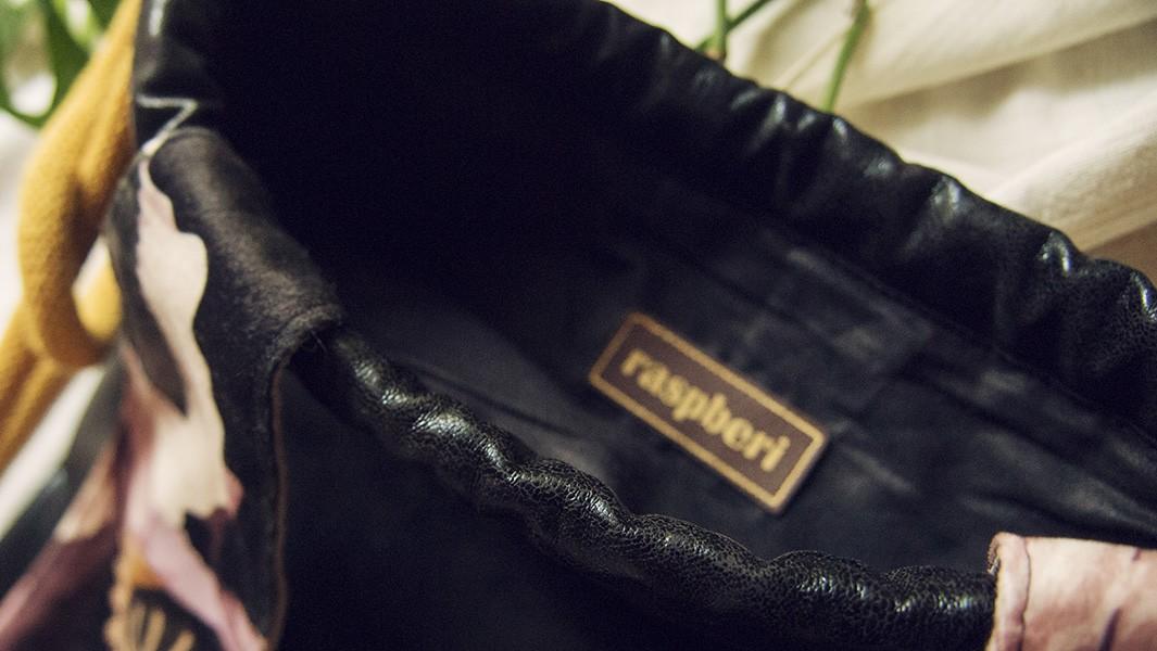 Czarny skórzany króliczek plecak worek
