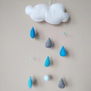 Zawieszka chmurka deszczowa pompon