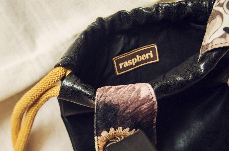 Mini plecak skórzany czarny króliczek