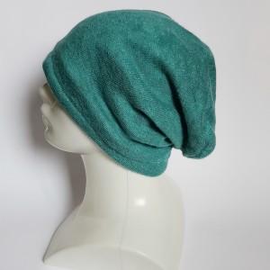 Czapka damska turkusowa ciepła etno