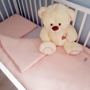 Muślinowa pościel niemowlęca z wypełnieniem - morelowy róż