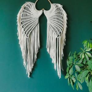 Skrzydła anioła XXL ecru Makrama dekoracja