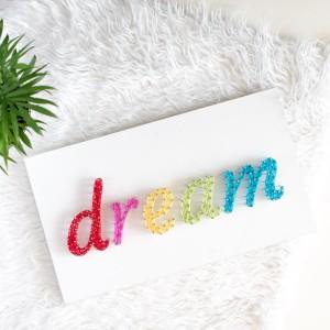 Obrazek pokój dziecka, dziecięcy Dream słodkich snów String Art