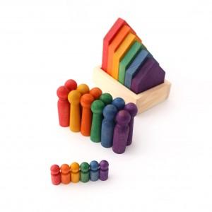 Sorter domki, Montessori + karty pracy