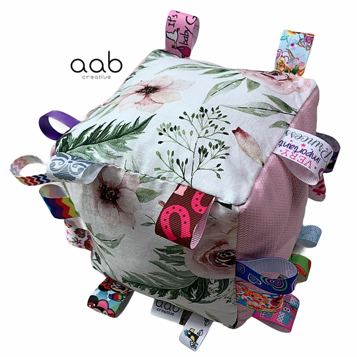 Kostka sensoryczna z gryzakiem Różany Ogród(398091)