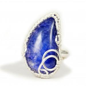 Kamień księżycowy, Srebrny pierścionek z kamieniem księżycowym, ręcznie wykonany, prezent dla niej, prezent dla mamy, prezent urodzinowy