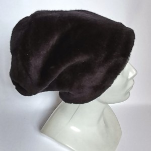 Czapka futrzana czarna ciepła krótki włos