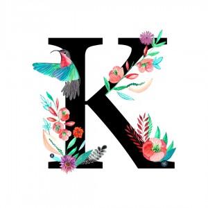 Alfabet litera K 50x70