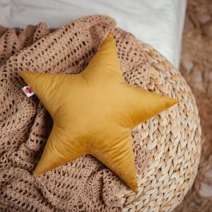 poduszka gwiazdka musztardowa