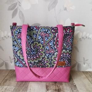 Torebka damska wodoodporna shopper bag na ramię torebka do ręki  handmade