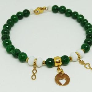 GREEN LOVE - bransoletka z kamieni