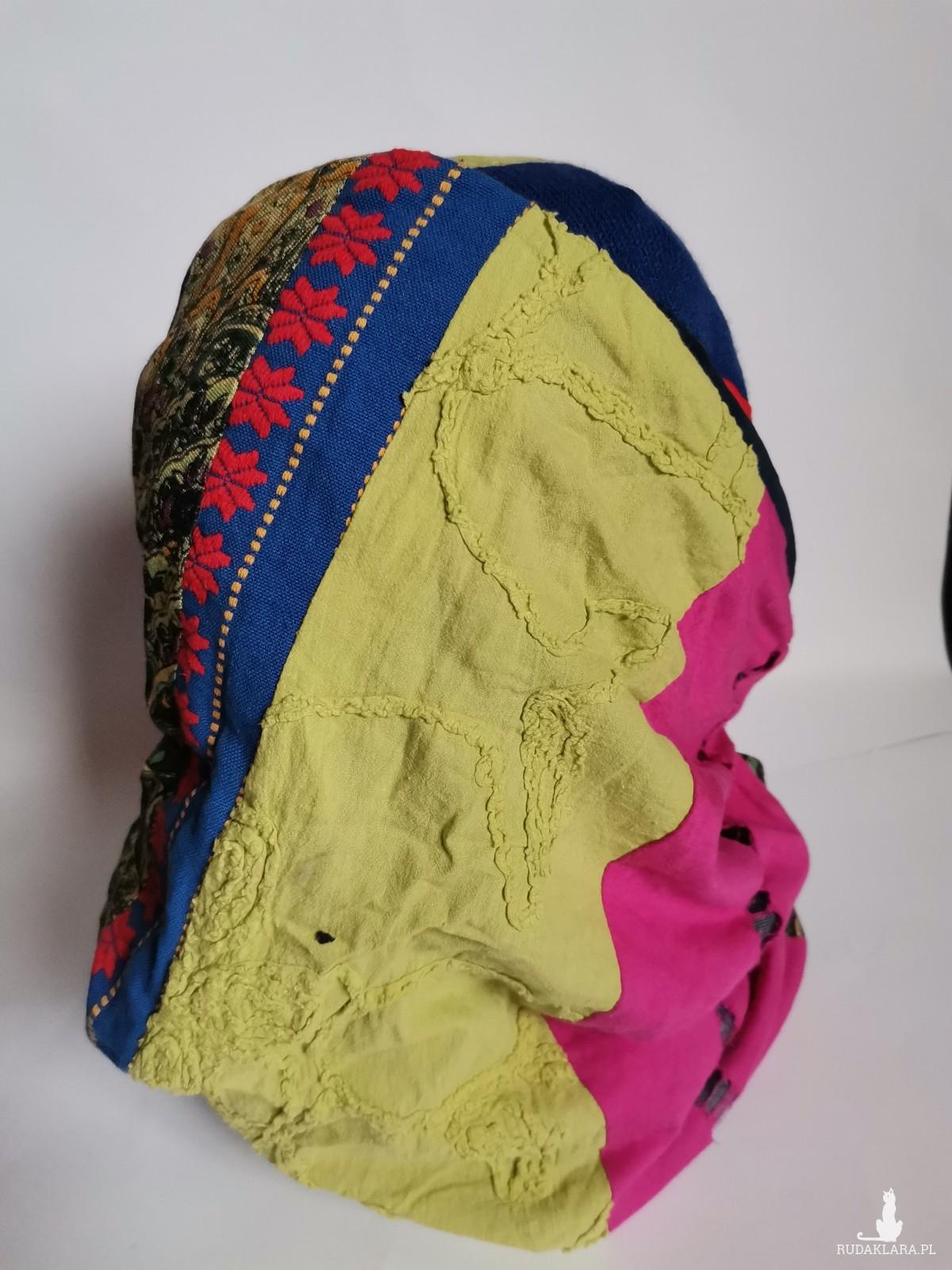 Komplet tuba patchworkowa i czapka