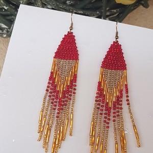 Kolczyki Red Gold Sticks