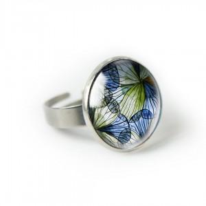 Blue spring pierścionek