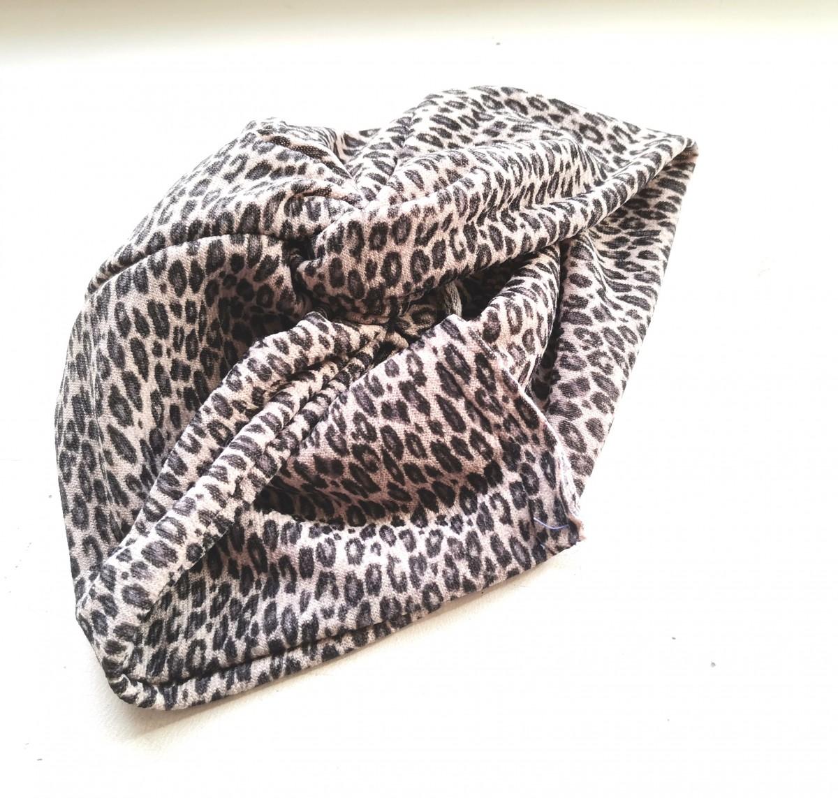 czapka turbanowa etno boho pantera