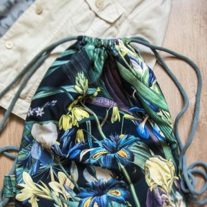 Plecak worek z botanicznym wzorem