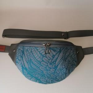 Nerka saszetka biodrowa wodoodporna handmade torebka na pas torebka na ramię torba mini Wolny Duch Dedal rozmiar L