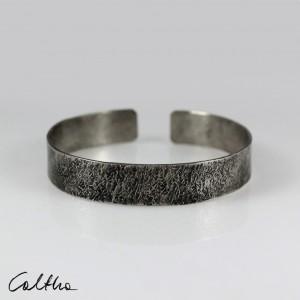 Kamień - metalowa bransoletka średnia 201217-01